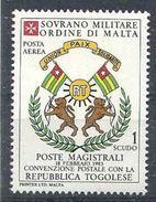 1983 ORDRE MALTE PA 4 ** Armoirie Togo, Issu De Paire - Malte (Ordre De)
