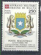 1983 ORDRE MALTE PA 6 ** Armoirie Somalie, Issu De Paire - Malte (Ordre De)