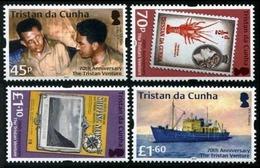 Tristan Da Cunha 2018 70th Anniversary Of Tristan Ventura Ship 4v  MNH - Tristan Da Cunha