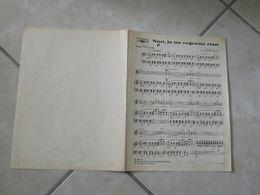 Non Je Ne Regrette Rien (Musique Charles Dumont)(Paroles Michel Vaucaire)- Partition 1960 - Liederbücher