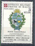 1984 ORDRE MALTE PA 10 ** Armoirie Uruguay , Issu De Paire - Malte (Ordre De)