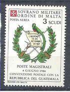 1984 ORDRE MALTE PA 14 ** Armoirie Guatemala , Issu De Paire - Malte (Ordre De)