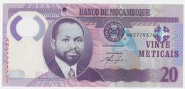 Mozambique P 149 A - 20 Meticais 16.6.2011 - UNC - Mozambico