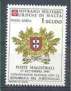 1984 ORDRE MALTE PA 19 ** Armoirie Portugal , Issu De Paire - Malte (Ordre De)