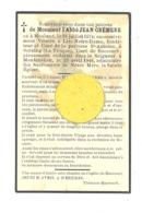 Faire-part De Décès De L' Abbé Jean CREMERS, Curé à Lize, Seraing, Haccourt - MOULAND 1874/MONTENAKEN 1948 (b252) - Décès