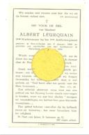 Faire-part De Décès De Albert LEURQUAIN Ier Artillerie - PONT A CELLES 1909/MERELBEKE 1944 Guerre 40/45 (b252) - Obituary Notices