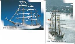 """Les Grands Voiliers - 2 CPM Neuves Différentes Sur Le """"Cuauhtemoc"""" Mexique - Voir (2 Scans). - Voiliers"""