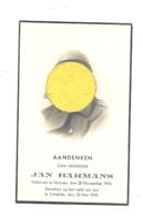 Faire-part De Décès De Jan BARMANS 37e De Ligne - MUIZEN1910/ERTVELDE 23/05/40 - Guerre 40/45 (b252) - Décès