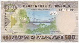 Rwanda NEW - 500 Francs 1.2.2019 - UNC - Ruanda