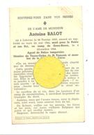 Faire-part De Décès D'Antoine BALOT Agent De Police - LOKEREN 1919/Camp De GROSS-ROSEN 1944 - Guerre 40/45 (b252) - Décès