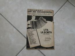 Lita La Bonita (Musique R. Trognée & F. Gabutti)(Paroles)- Partition Orchestre 1937 - Partitions Musicales Anciennes