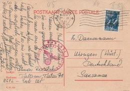 Estonie Carte Censurée Tallin Pour L'Allemagne 1941 - Estonia