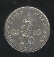 20 Francs Nouvelles Hébrides 1975 ( Ex Colonie Franco-Britannique ) - Münzen