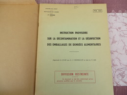 TTA 612 - Instruction Provisoire Sur La Décontamination, La Désinfection Des Emballages De Denrées Alimentaires - 156/05 - Books, Magazines, Comics