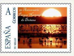 Spain 2015 - 50 Aniv. Parque Nacional De Doñana Mnh - Protección Del Medio Ambiente Y Del Clima
