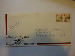 "Busta  Viaggiata ""MILAN CLUB BRIGATE ROSSONERE"" 1983 - 1981-90: Marcophilia"