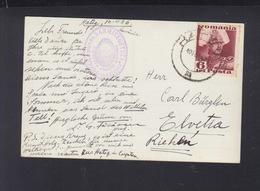 Romania PPC Hateg Legiunea Sarmisegetuza Original Autograph Iordache Facaoaru Prominent Legionary Eugeneticist 1936 - World War 2 Letters
