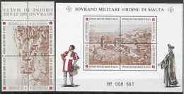 1993 ORDRE MALTE 449-52+ F449** Forteresses Ile De Rhodes - Malte (Ordre De)
