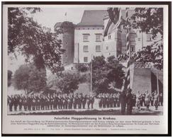 Dt- Reich (007904) Propagandasammelbild, Bilderdienst Weber Leipzig, Feierliche Flaggenhissung In Krakau - Germany