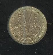 5 Francs Togo 1956 Union Française - Togo