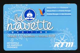 Ticket Navette Maritime Marseille  (Vieux-Port, L'Estaque, Pointe Rouge, Les Goudes) Plus Correspondance Métro, Bus, RTM - Europa