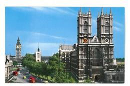 Inghilterra England London Westminster Abbey And Big Ben Non Viaggiata Condizioni Come Da Scansione - Westminster Abbey