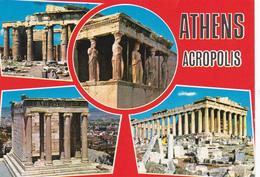 CPM GRECE ATHENES Souvenir De L'Acropole Joli Timbre - Greece