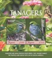 Guyana 2018 Birds - Tanagers (ss/2v),MNH - Guyana (1966-...)