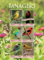 Guyana 2018 Birds - Tanagers (ss/6v),MNH - Guyana (1966-...)