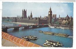 Inghilterra England London Houses Of Parliament And Westminster Bridge Viaggiata 1963 Condizioni Come Da Scansione - Houses Of Parliament