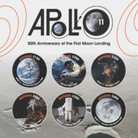 Guyana 2018 Space - The 50th Anniversary Of The Apollo 11 Mission (ss/6),MNH - Guyana (1966-...)