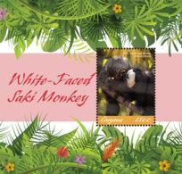 Guyana 2019 WHITE-FACED SAKI MONKEY (ss/1v),MNH - Guyana (1966-...)