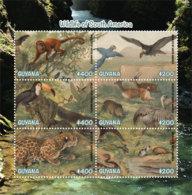 Guyana 2019 WILDLIFE OF SOUTH AMERICA SHEETLET (ss/6v),MNH - Guyana (1966-...)
