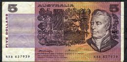 AUSTRALIA P44b 5 Dollars 1974 VF - Nationalbank Ausgaben 1910