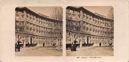 """0541 """"307 - ROMA - HOTEL SVIZZERO"""" FOTOGRAFIA STEREOSC. ORIG. - Stereoscopio"""