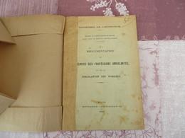 Réglementation De L'Exercice Des Professions Ambulantes Et De La Circulation Des Nomades - 38/05 - Books, Magazines, Comics