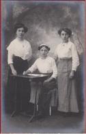 Beautiful Old Photo Oude Foto Studio Cabinet 1920's Woman Women Girl Girls Fashion Filles Fille Vrouwen - Portraits