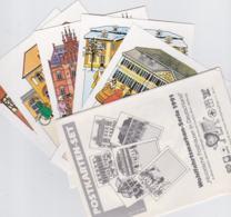 Germany Postkarten-Set Of Historische Posthäuser In Deutschland - Wohlfahrtsmarken-Serie 1991 Mint (T10-32) - Post