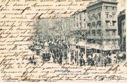 Barcelona -Rambla De Las Flores  - Dos Non Divisé - Edit Hauser Y Menuet -voyagée 1904-Scans Recto Verso-Paypal Free - Barcelona