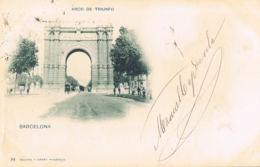 Barcelona - Arco De Triunfo- Dos Non Divisé - Edit Hauser Y Menet - Voyagée 1902 -scans Recto Verso-Paypal Free - Barcelona