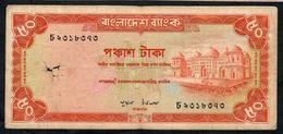 BANGLADESH RARE P23 50 TAKA 1979 VG/F - Bangladesh