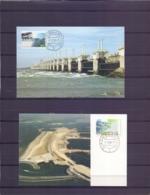 Nederland - Maximumkaarten - Michel 1305/06 - Burgh-Haamstede 7/10/86  (RM14558) - Géographie