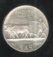 5 Franga Albanie 1927 V - Essai / Probe / Prova - Fausse / Fake Coin - Exonumia - Munten