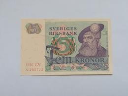 SVEZIA 5 KRONOR 1981 - Svezia