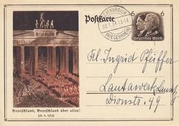 EP MICHEL P 250 Obl GREVENBROICH (NIEDERRHEIN) Du 30.1.34 Adressé à Lausitz - Allemagne