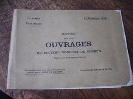 1.10.1916 Notice Ouvrages Secteur Nord Est Verdun Canevas Tir - 1914-18