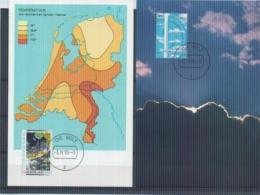 Nederland  - Maximumkaarten - Michel 1379/81 - De Bilt 3/4/90  (RM14665) - Protection De L'environnement & Climat