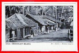 ASIE - CEYLON - Sri Lanka - Maisons Indigènes - Sri Lanka (Ceylon)