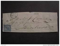"""2319 ITALIA Regno-1863- """"L 18 De La Rue"""" C. 15 ?>MONTALCINO (descrizione) - 1861-78 Vittorio Emanuele II"""