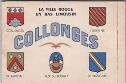 Livret Touristique  Collonges La Ville Rouge Du Bas Limousin, Blasons Cartes Postales Plans, Textes  Théojac - Other